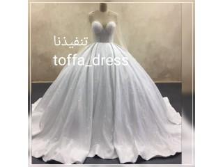 تفصيل اجمل فساتين زفاف وسهرة باسعار منسابة