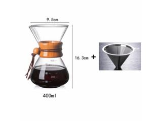 أداة تقطير القهوة 400 مل مع فلتر ستانلس ستيل