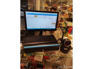 جهاز و برنامج نقاط بيع باركود من طيف الالماس للمتاجر و المحلات
