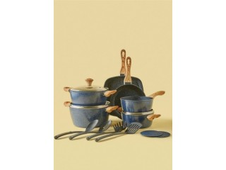 طقم اواني طهي من الألمنيوم المطلي بالجرانيت والرخام